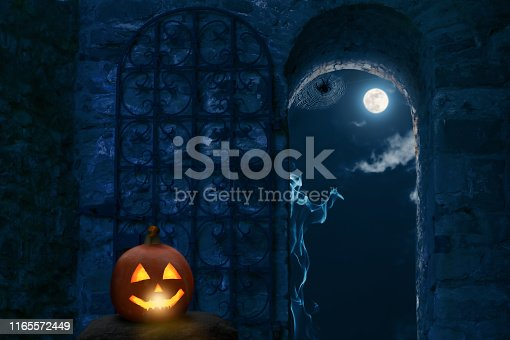 open archway to the halloween party