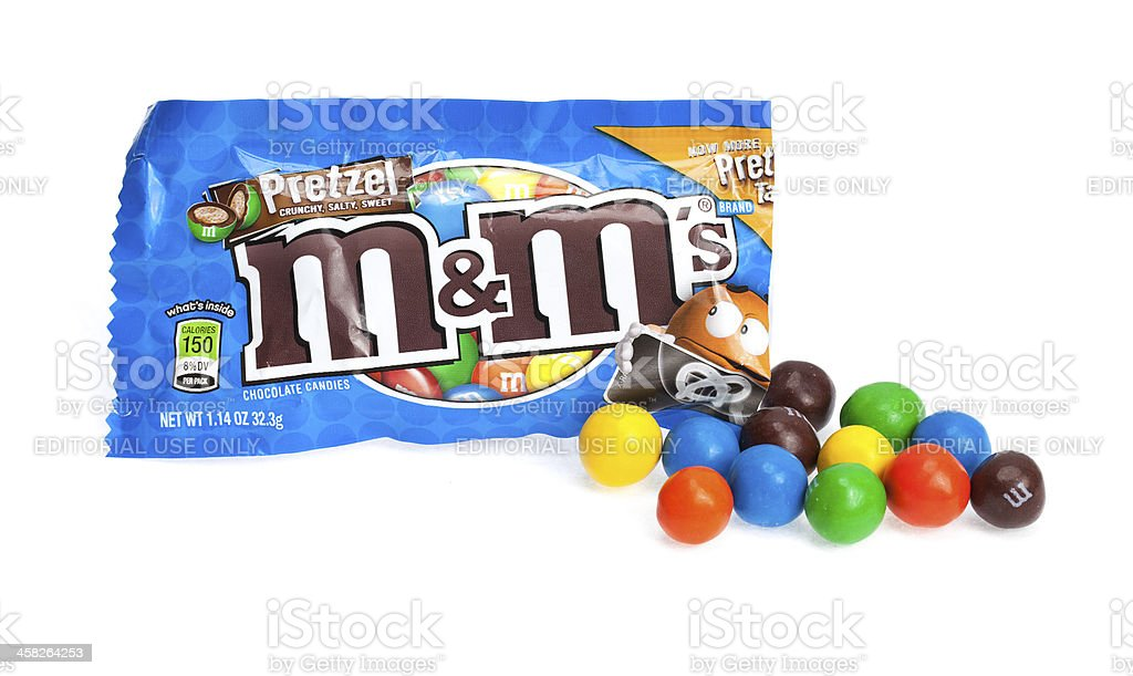 Open Bag Of Mm Pretzel Chocolate Candy Stock Photo More Pictures