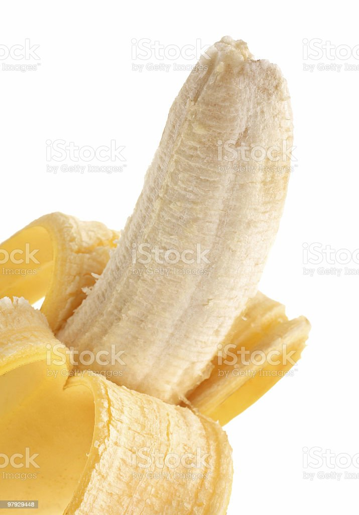 Open banana fruit royalty-free stock photo