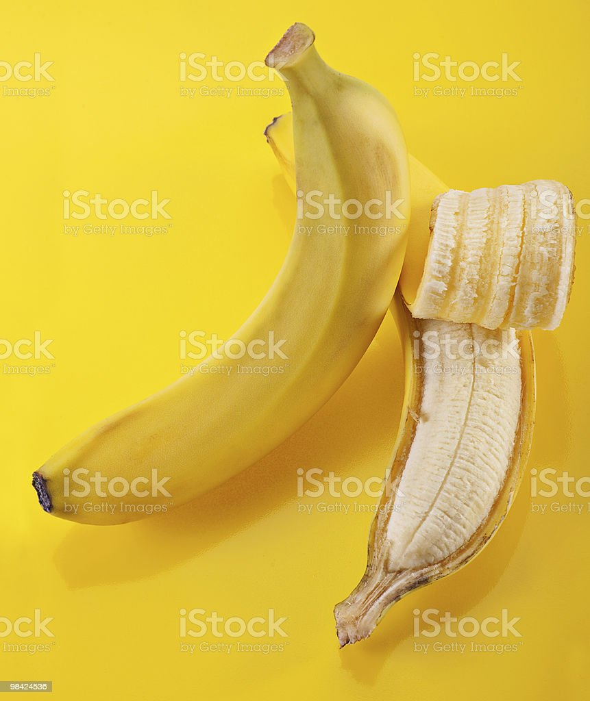 Open banana royalty-free stock photo
