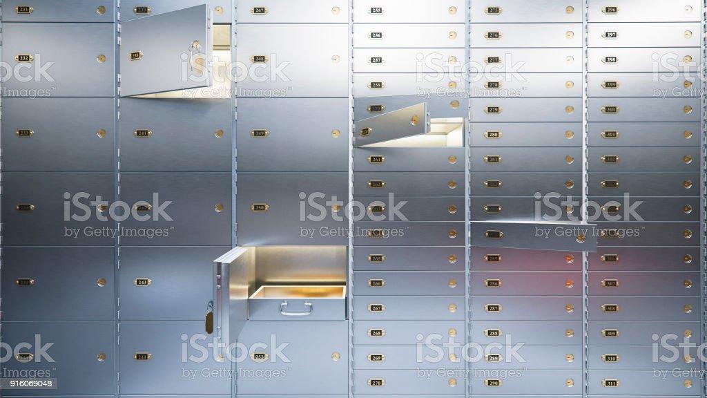 open bank safe doors  3d illustration стоковое фото