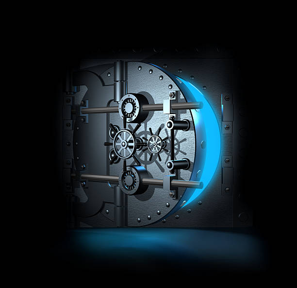 open bank vault, 3D render open bank vault, 3D render vaulted door stock pictures, royalty-free photos & images