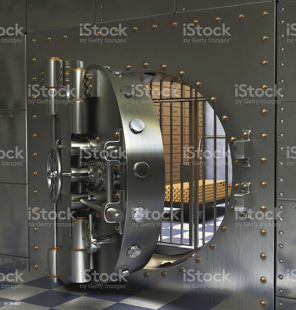 Öffnen Bank Gewölbe - Lizenzfrei Altertümlich Stock-Foto