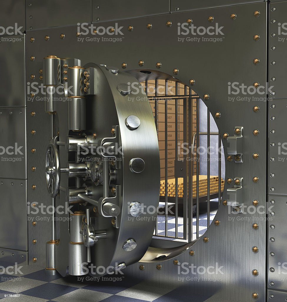 Open Bank Vault stock photo
