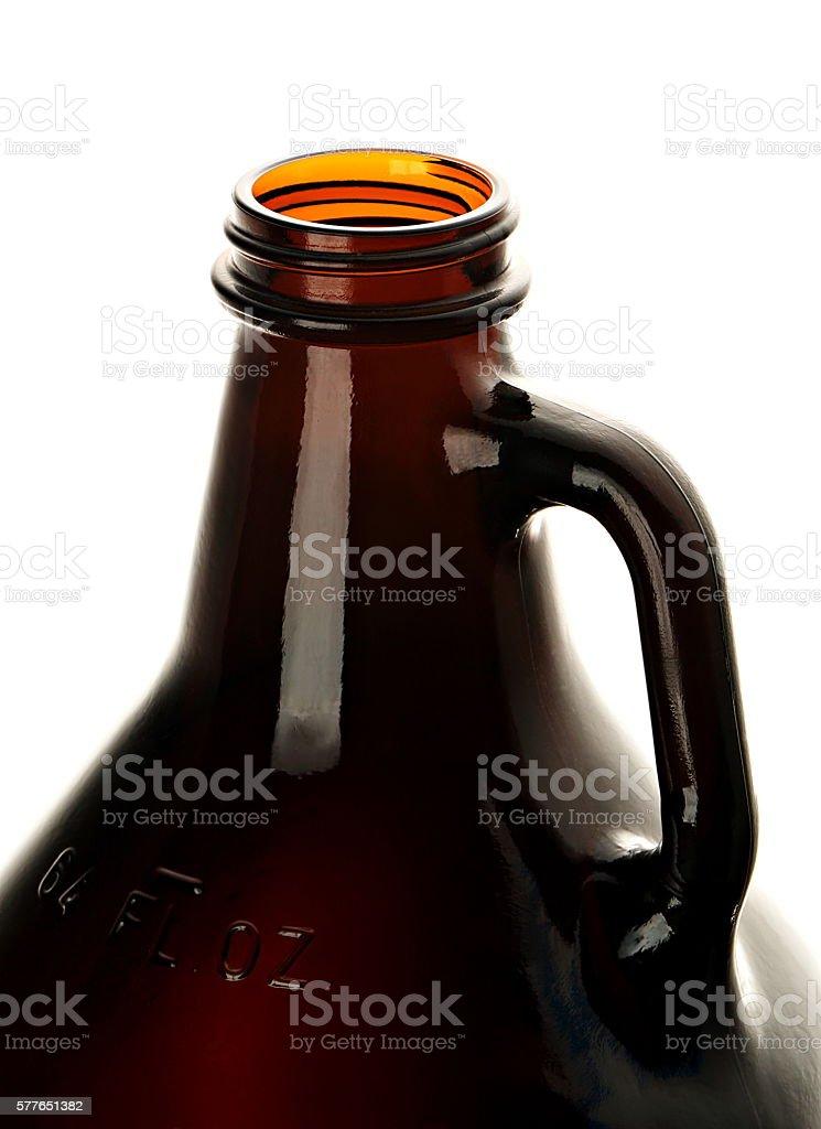 Open Beer Growler stock photo