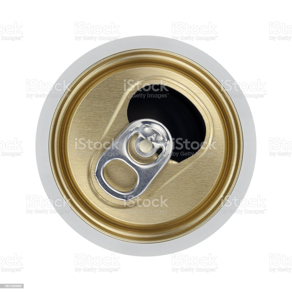 Open Beverage Can stock photo
