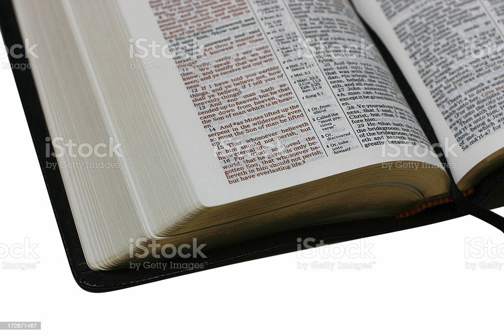 Open bible 1 royalty-free stock photo