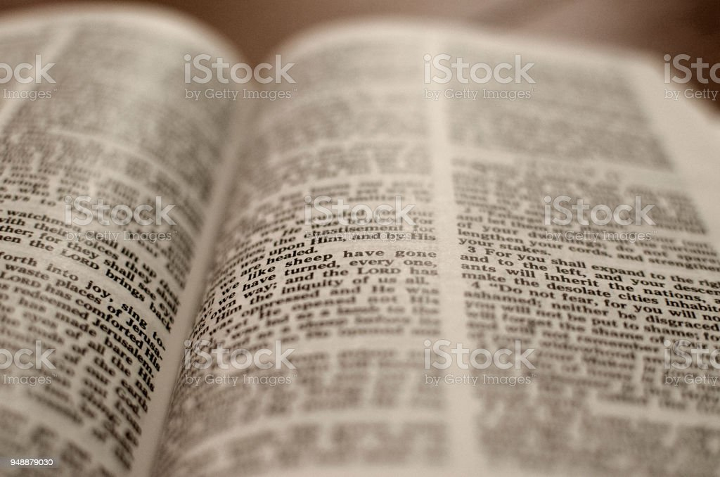 Open Bible -Close up royalty-free stock photo