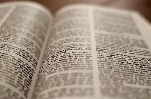 Open Bible -Close up
