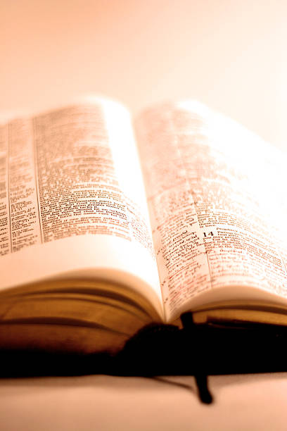 Open Bible - High Key stock photo