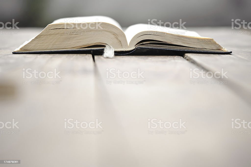Open bible on a table. royalty-free stock photo