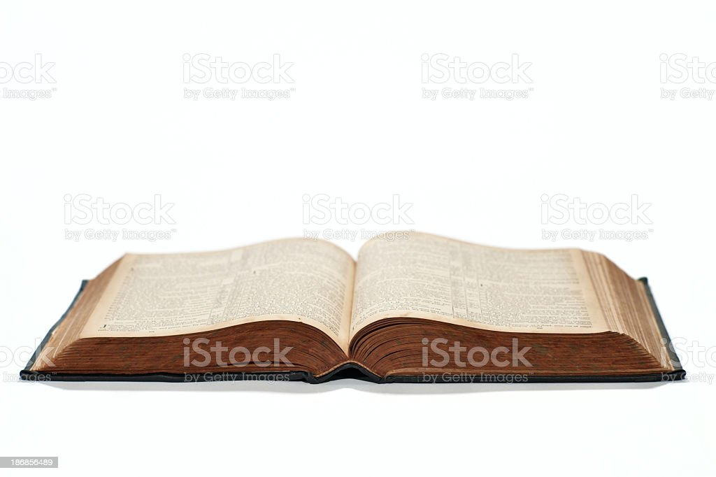 Abierto Biblia - foto de stock