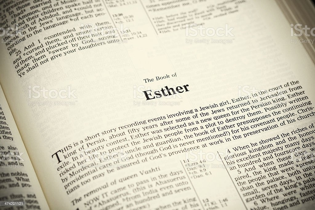 Open Bible ,The Book of Esther royalty-free stock photo