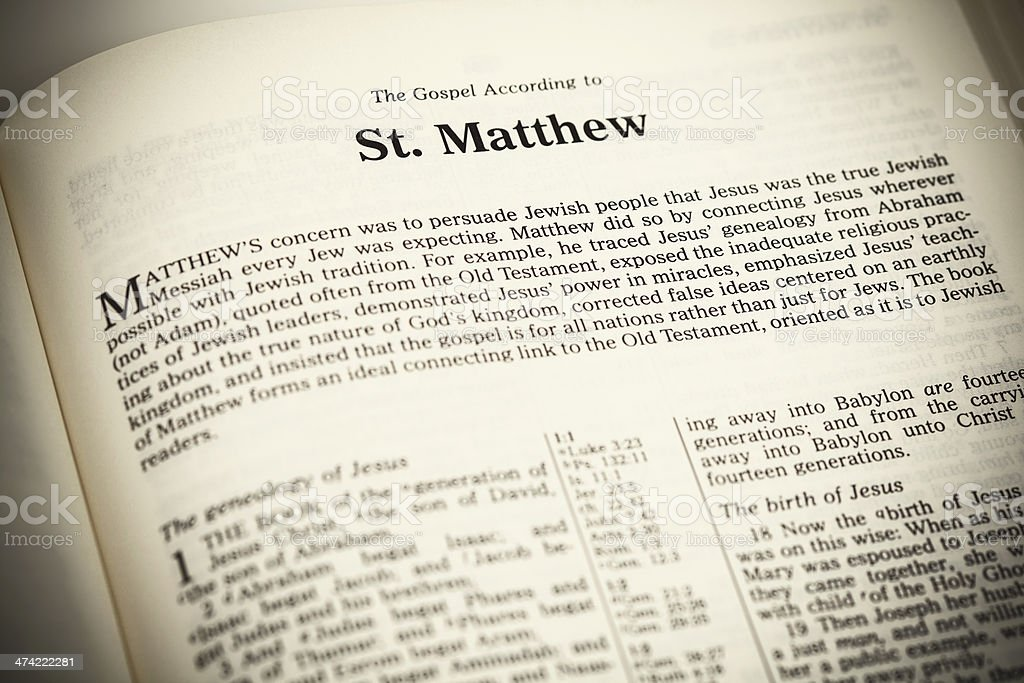 an analysis of the gospel of st matthew Gospel of matthew - concise yet complete information on the book of  of  course, a summary of this extremely important book of the bible can only provide   that we deserve, was buried, and rose from the dead according to the bible.