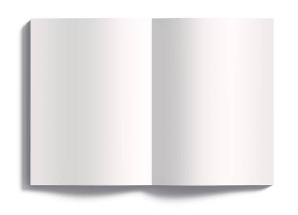 open leeg boek dat op witte achtergrond 3d teruggeven wordt geïsoleerd - smeren stockfoto's en -beelden