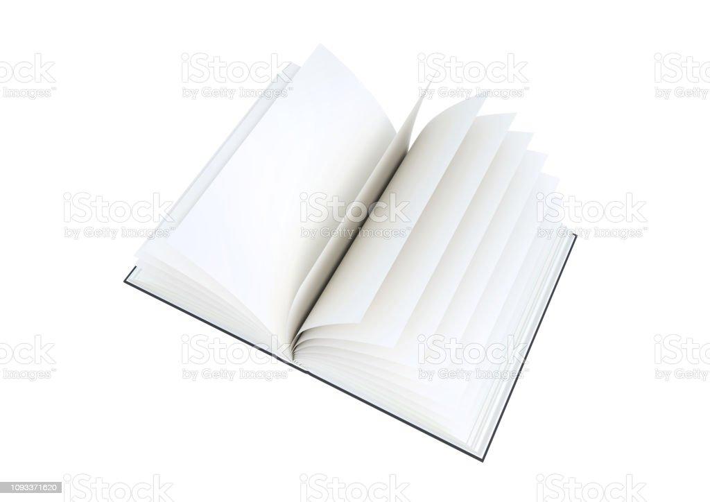 Photo Libre De Droit De Livre Blanc Ouvert Sur Fond Blanc