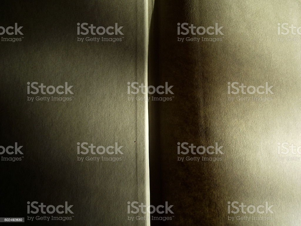 Open Blank Book Pages with Sunlight Effect stock photo