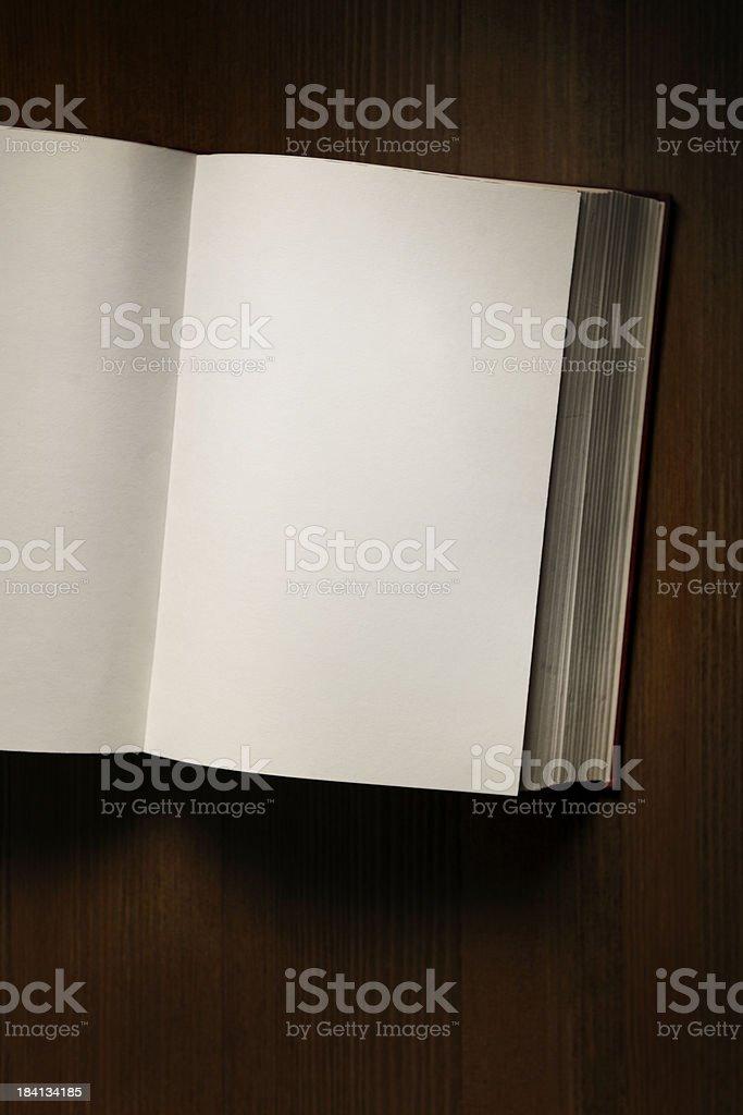 Open blank book stock photo
