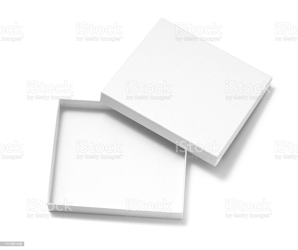 Open blank box stock photo