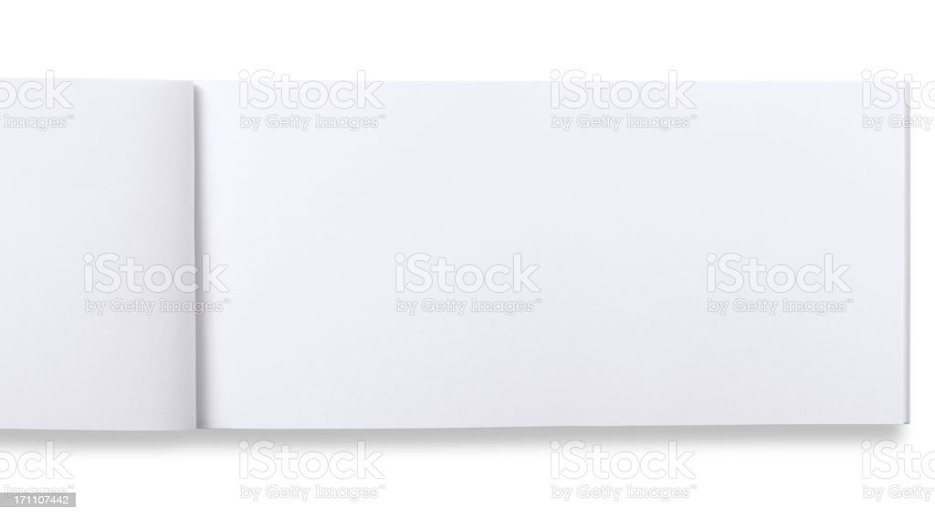 open blank check book stock photo