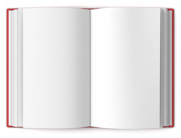 Offene leere hardback buchen-plan anzeigen – Foto