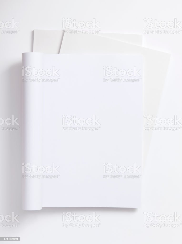 open blank magazine royalty-free stock photo