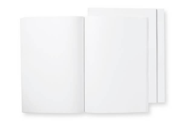 open blank magazine stock photo