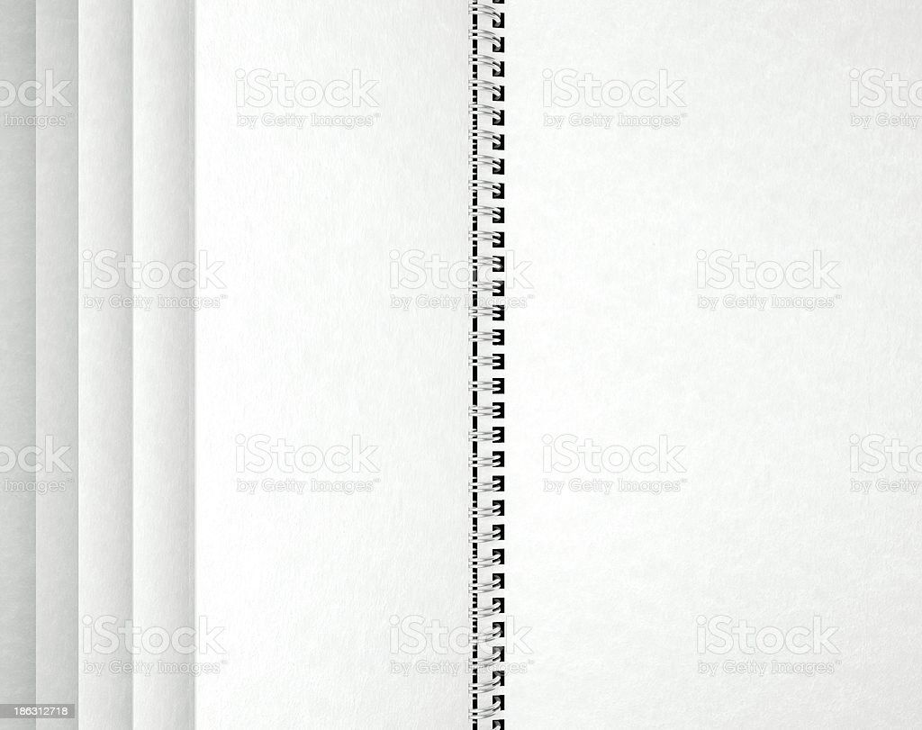 Open blank notebook, paper texture royalty-free stock photo