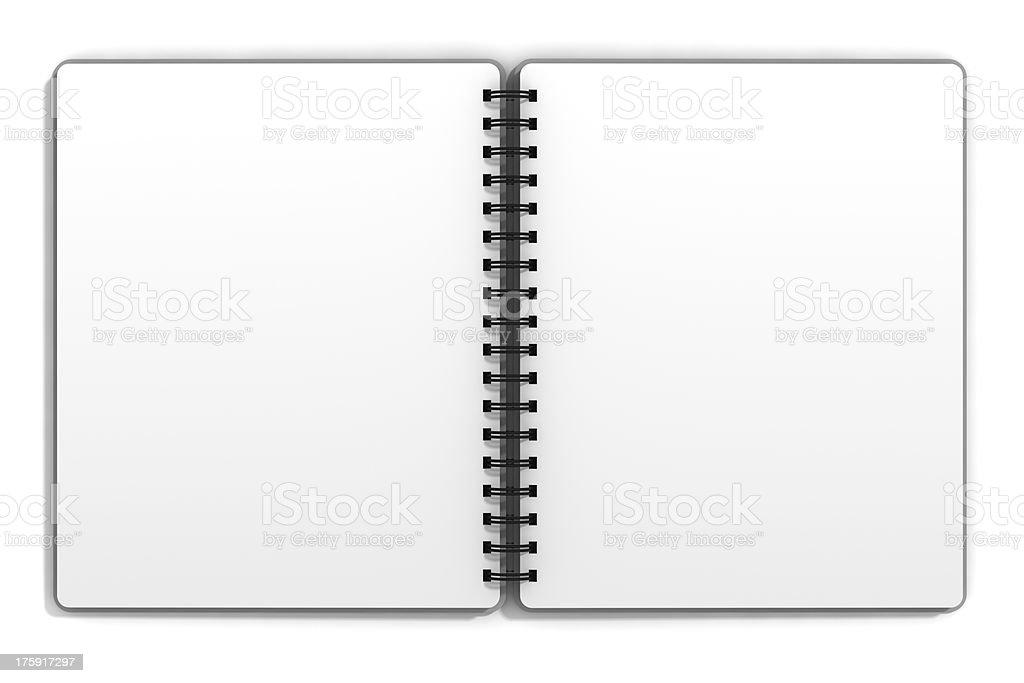 Open Blank Notepad royalty-free stock photo