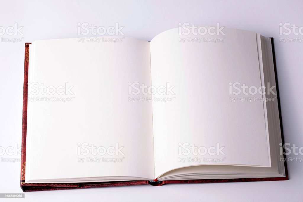 open blank paper note book stock photo