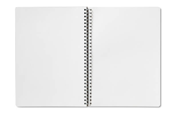 Open Spiral Notebook Royalty Free Sp...