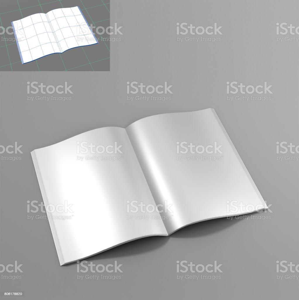 Öffnen Sie Leeres Vertikale Buch Und Magazincovervorlage Mit Seiten ...