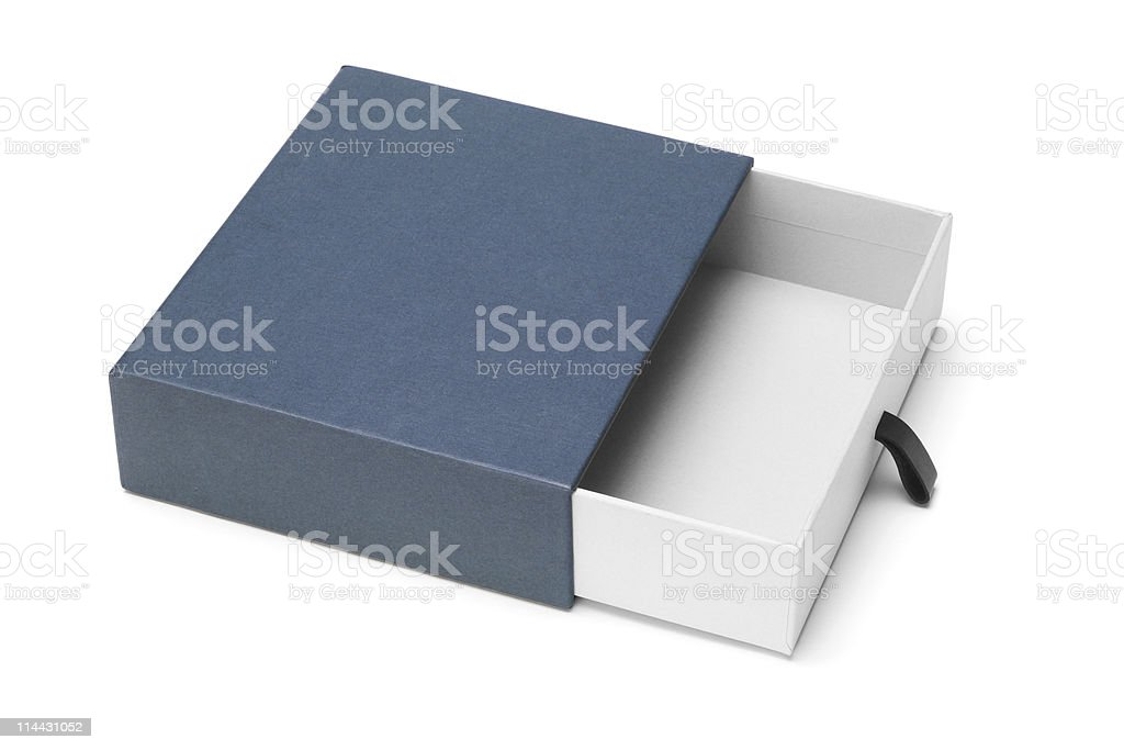 Open blue gift box royalty-free stock photo