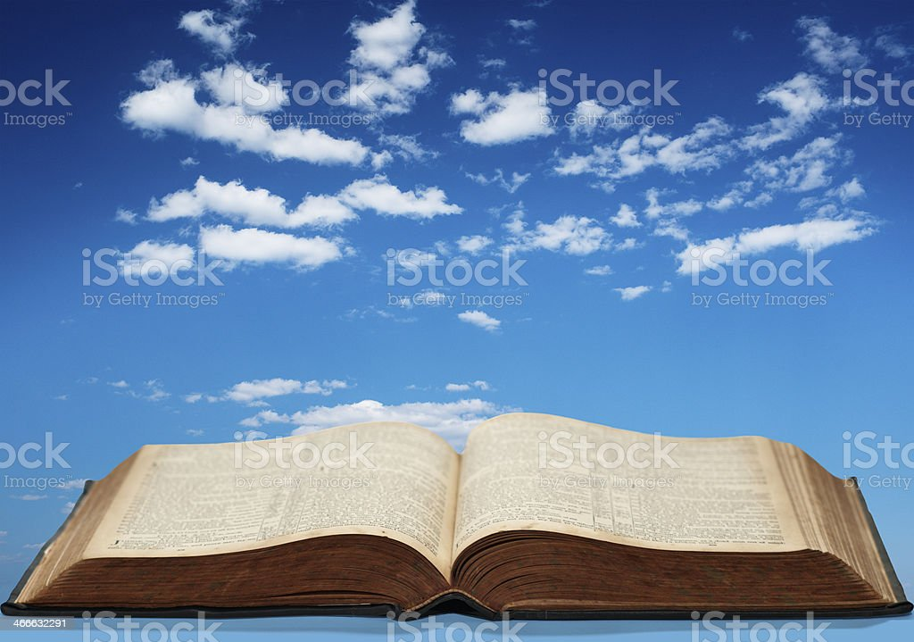 Open Book and Blue Sky stock photo