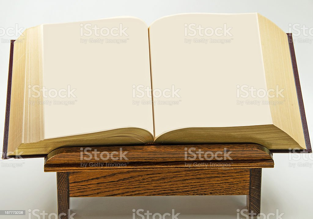 Open Book and Copy Space stock photo