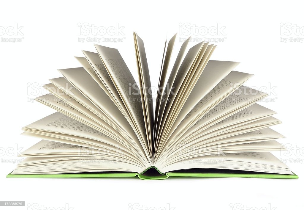Open book - end view royalty-free stock photo