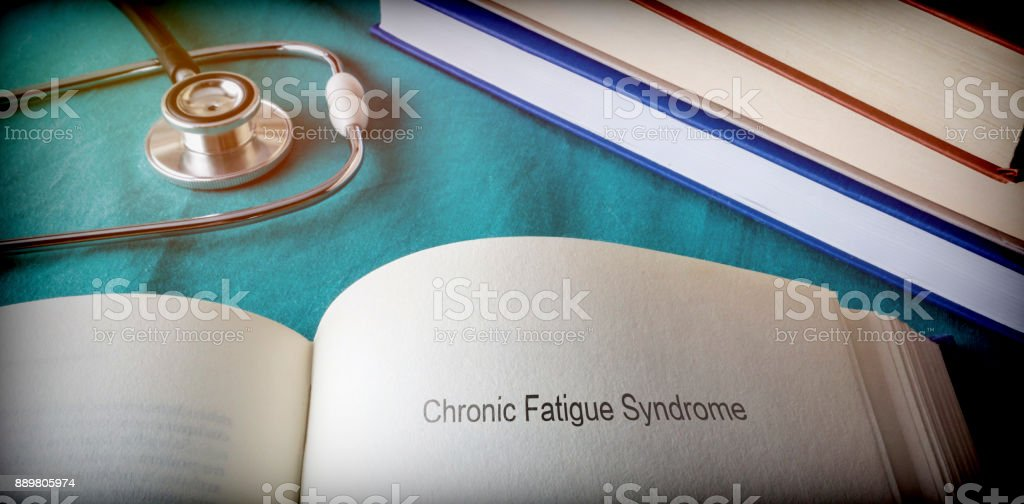 Open Book of Chronic fatigue Syndrome, conceptual image - Royalty-free Adult Stock Photo