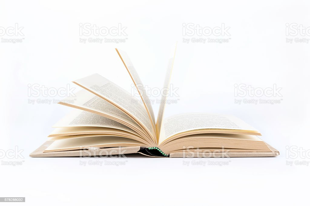 Open book on a white background – Foto