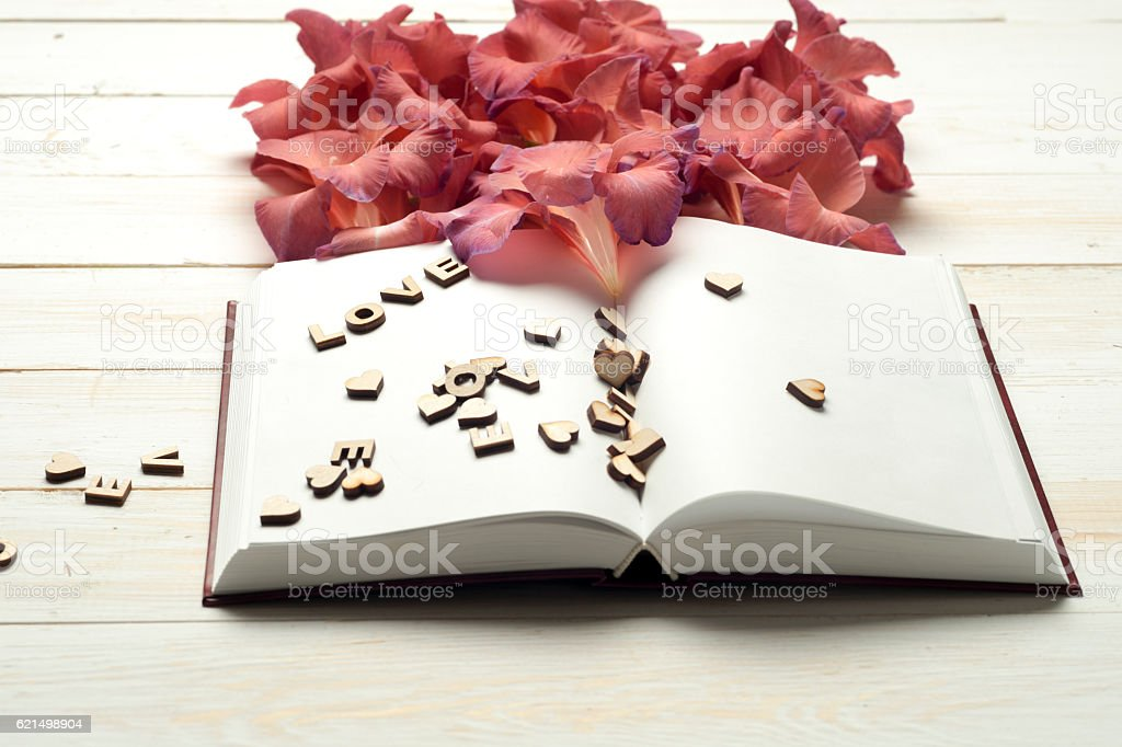 Open book on light table. photo libre de droits