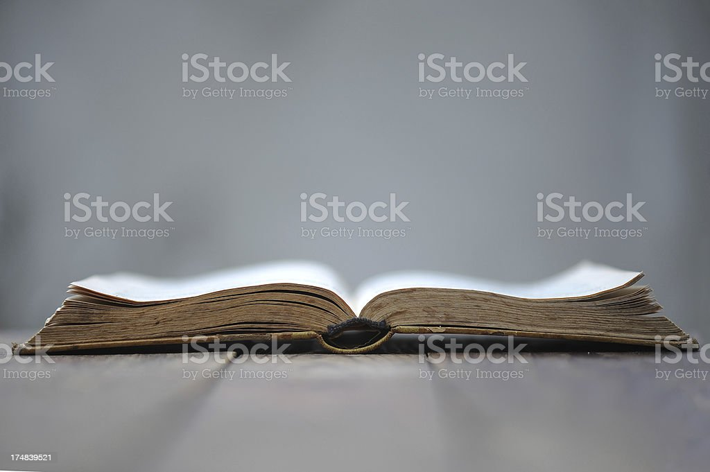 Open Book on table. stock photo