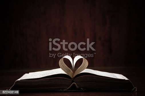 istock Open Book On Table 522403149