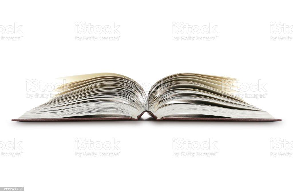 Open Book On White stock photo