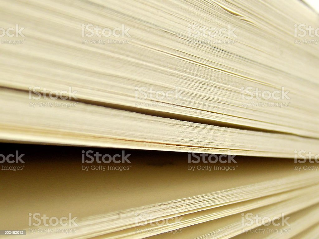 Open Book Pages from Tilted Angle stock photo