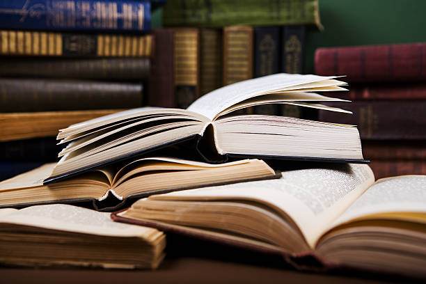 open book - classical style stock photos and pictures
