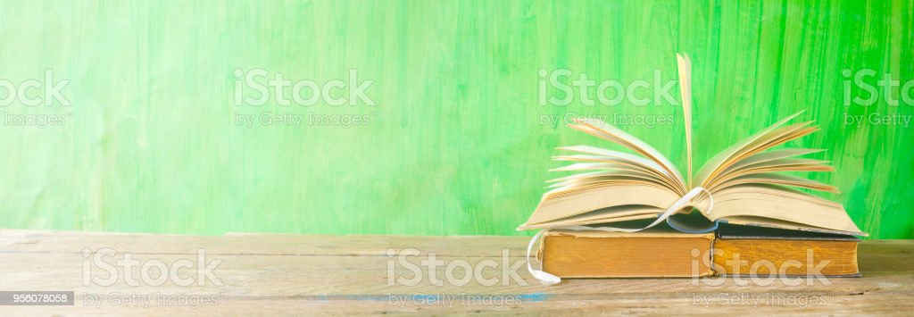 Open Book Reading Learning Education Concept Panorama Format Good