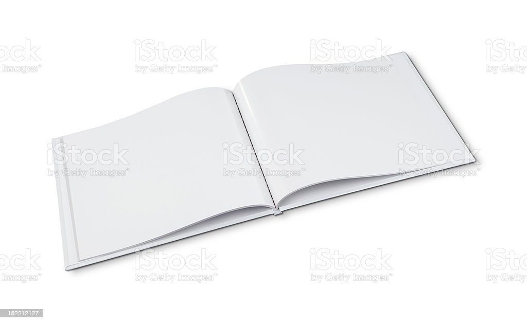 Open Book Template stock photo