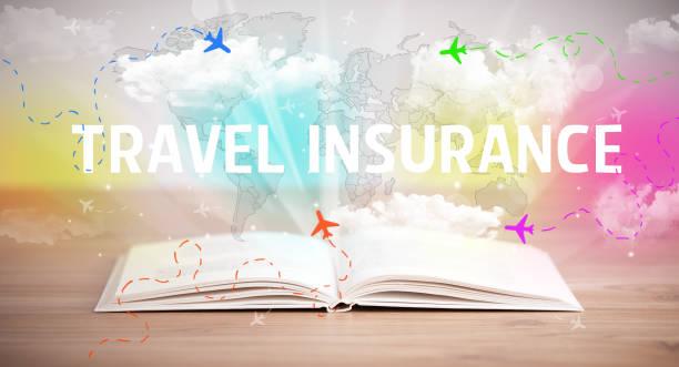 open book, vacation concept stock photo