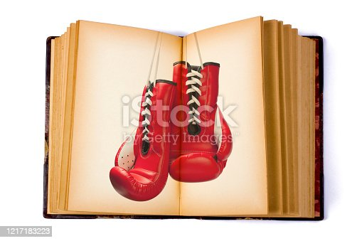 Open Book with a Boxing Glove