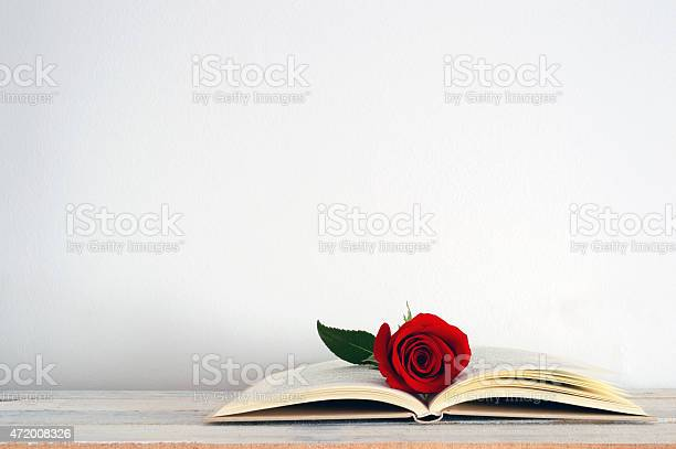 Open book with a red rose flower on it picture id472008326?b=1&k=6&m=472008326&s=612x612&h=ombnjpuwrybjehnagxppm  pjlh3zqymveevlpekfni=