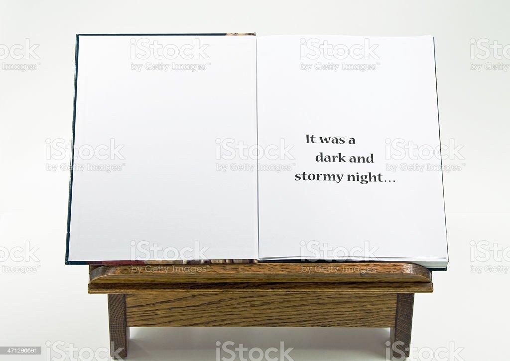 Open  Book with Cliche stock photo